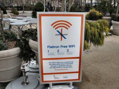 Free WiFi Board near Madison Square Park