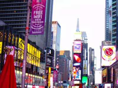 Free WiFi Board in Times Square