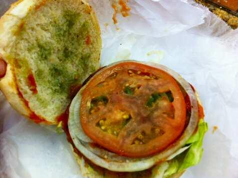 kashmir dollar burger vege burger - © DirtCheapNYC.com