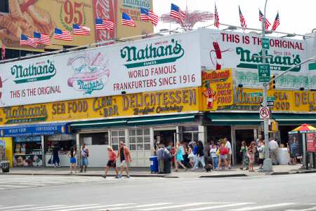 Nathan's Hot Dog Coney Island Brooklyn