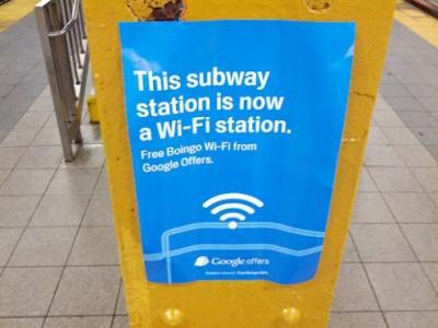 Google Offers Free WiFi in NYC Subways - DirtCheapNYC.com